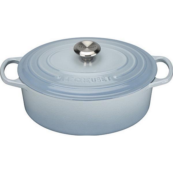 Le Creuset Coastal Blue Signature Cast Iron Oval Other Pots with lid 29cm