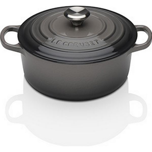Le Creuset Flint Signature Cast Iron Round Other Pots with lid 20cm