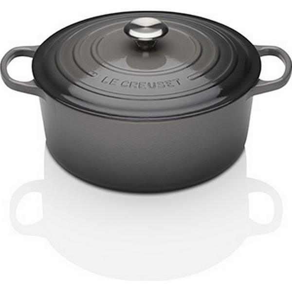 Le Creuset Flint Signature Cast Iron Round Other Pots with lid 24cm