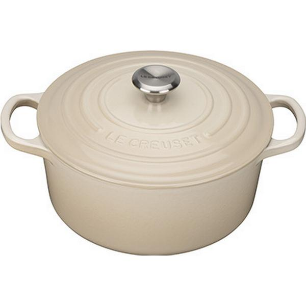 Le Creuset Almond Signature Cast Iron Round Other Pots with lid 22cm