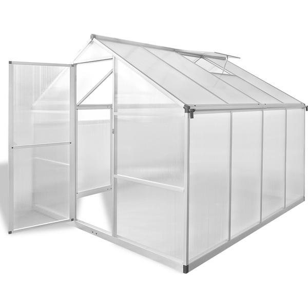 vidaXL Reinforced with Base 6.05m² Aluminum Aluminum Polycarbonate