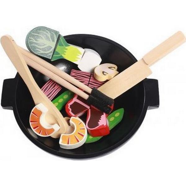 Magni Wooden Wok Play Food Set