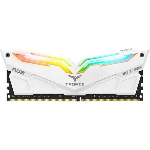 Team T-Force Night Hawk RGB White DDR4 3000MHz 2x8GB (TF2D416G3000HC16CDC01)
