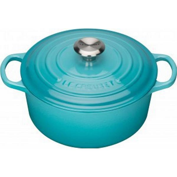Le Creuset Teal Signature Cast Iron Round Other Pots with lid 28cm