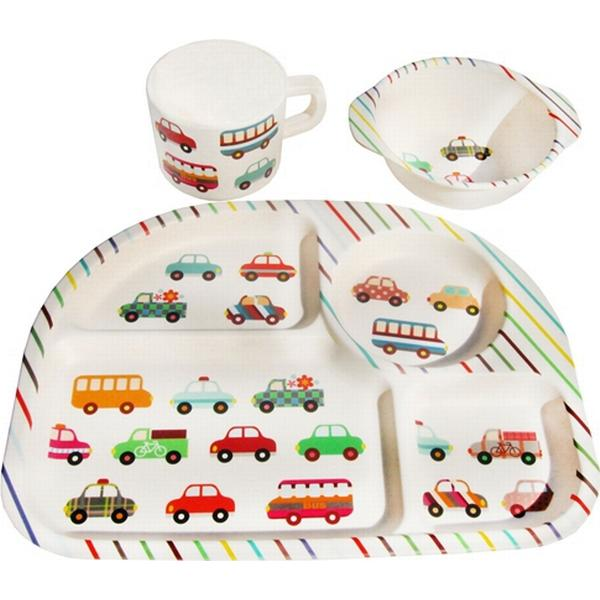 BimBamBoo Kids Dining Sets Transport 3pcs