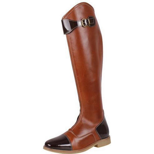 Qhp Adult Ancha Riding Boots Ancha Adult Norah Brown T-36 ae4073