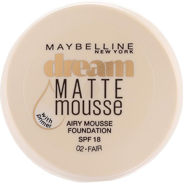 Maybelline Dream Matte Mousse Foundation SPF18 #02 Fair