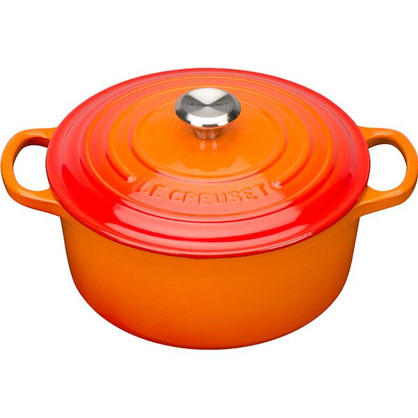 Le Creuset Volcanic Signature Cast Iron Round Other Pots with lid 22cm