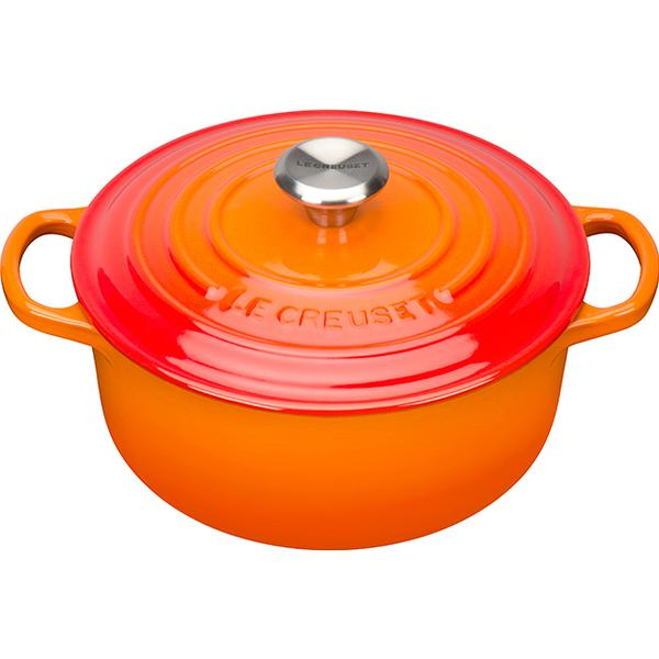 Le Creuset Volcanic Signature Cast Iron Round Other Pots with lid 20cm