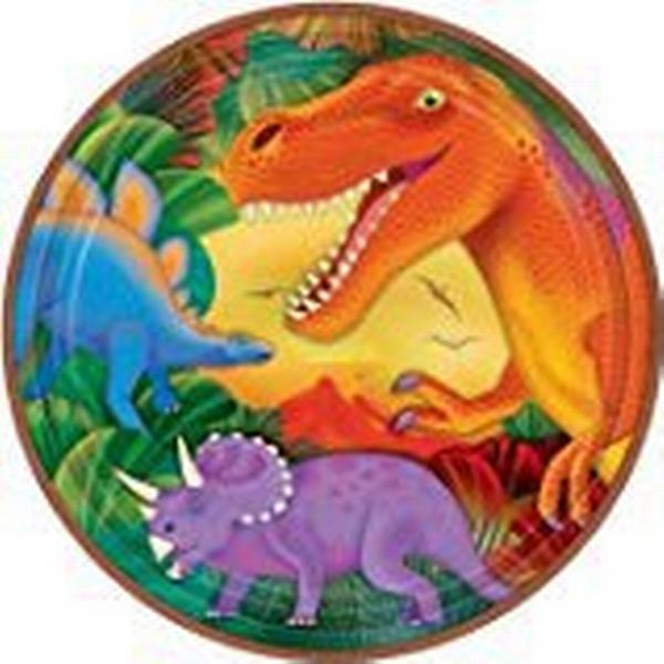 Amscan Prehistoric Party Metallic Plates Disposable Dinnerware