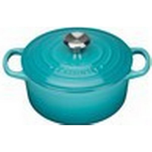 Le Creuset Teal Signature Cast Iron Round Other Pots with lid 18cm