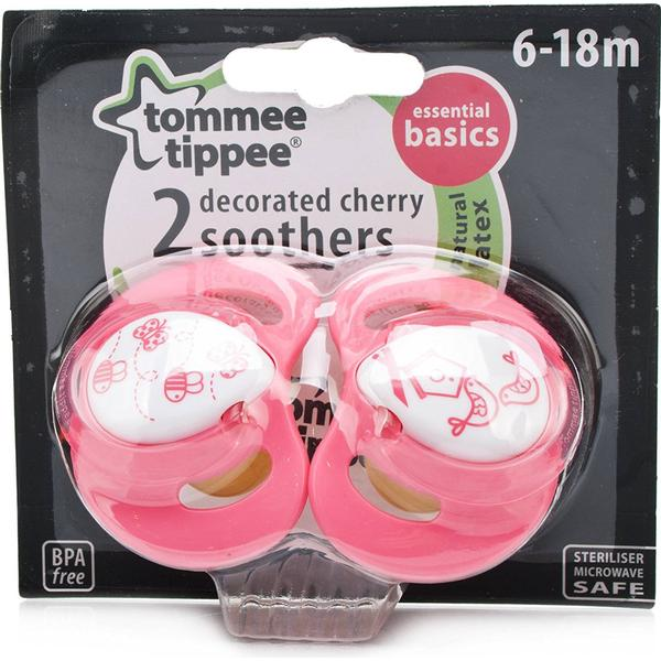 Tommee Tippee Essential Basics Cherry Soothers 6-18m 2-pack