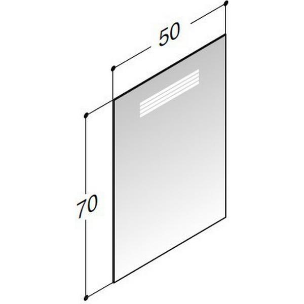Scanbad Badeværelsesspejl Multo+ LED 500x31mm