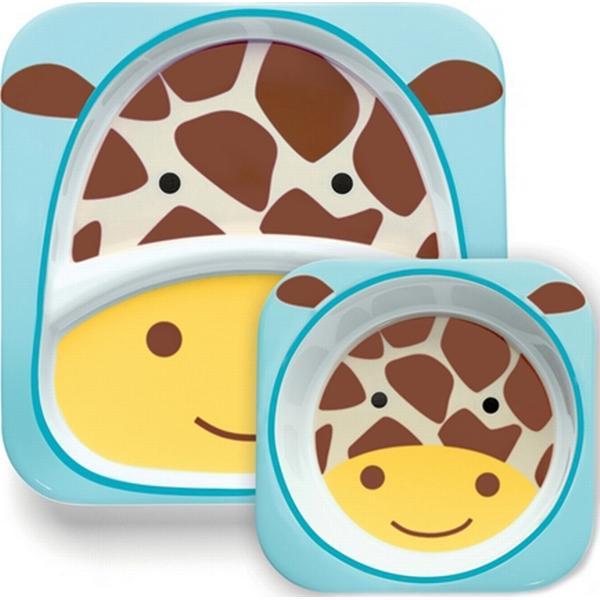 Skip Hop Zoo Dyb & Flad Tallerken Giraf