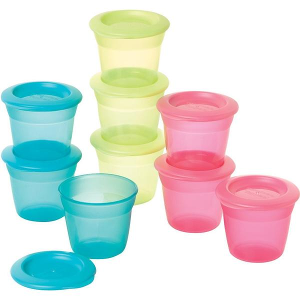 Tommee Tippee Essentials Food Pots and Lids 4m+ 3-pack