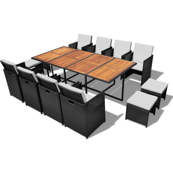 vidaXL 42532 Havemøbelsæt, 1 borde inkl. 8 stole