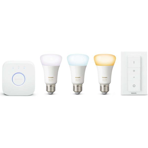 Philips Hue White Ambiance LED Lamp 9.5W E27 3 Pack Starter Kit