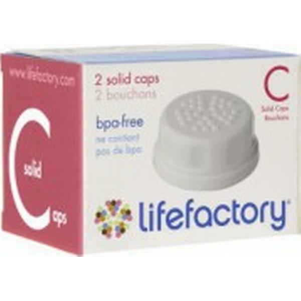 Lifefactory Flat Caps 2-pack