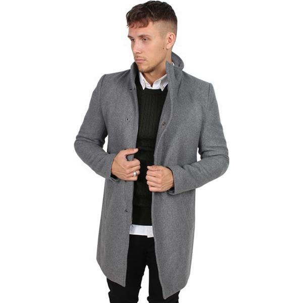 Only & Sons Oscar Rock Exp Coat Light Grey Mel