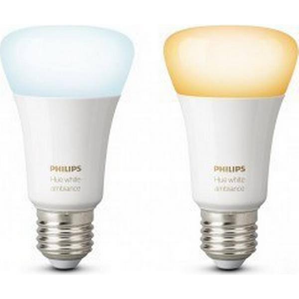 Philips Hue White Ambiance LED Lamp 9.5W E27 2 Pack