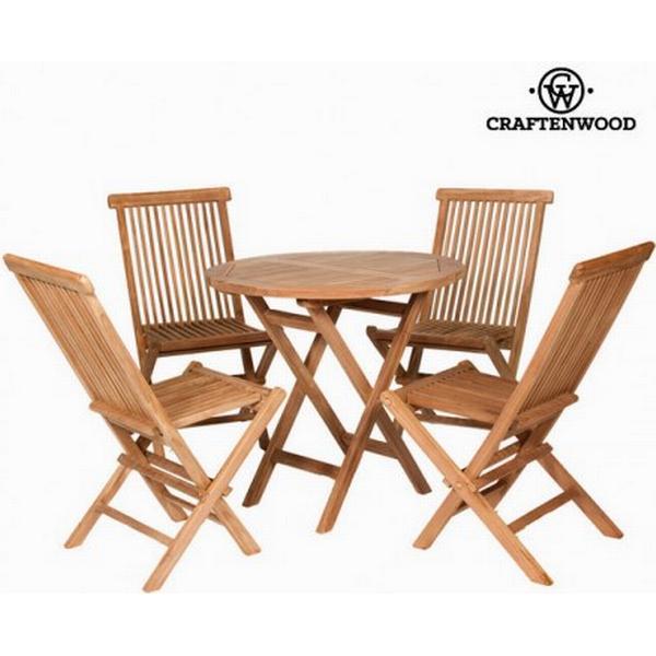 Craftenwood S0101629 Havemøbelsæt, 1 borde inkl. 4 stole