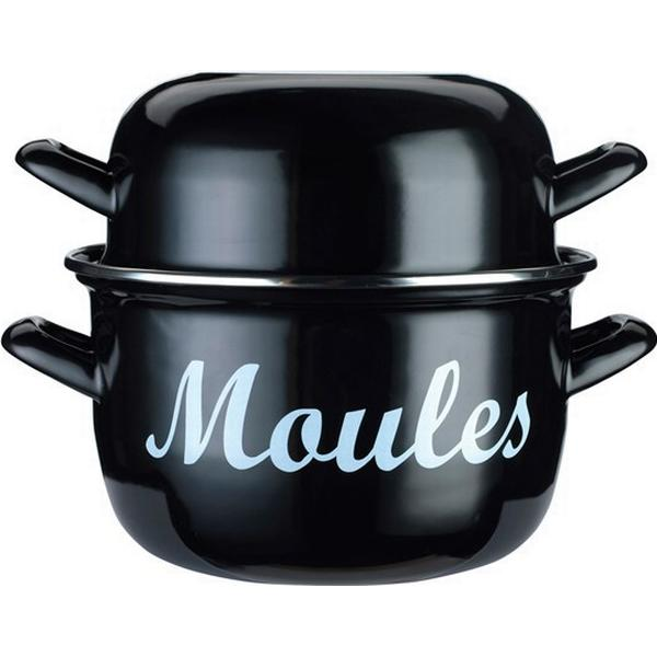 Kitchencraft Mediterranean Standard Mussel Mussel pot with lid 18cm