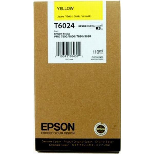 Epson (C13T602400) Original Bläckpatron Gul 110 ml