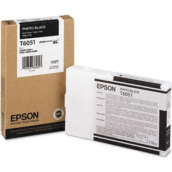 Epson (C13T605100) Original Bläckpatron Svart 110 ml