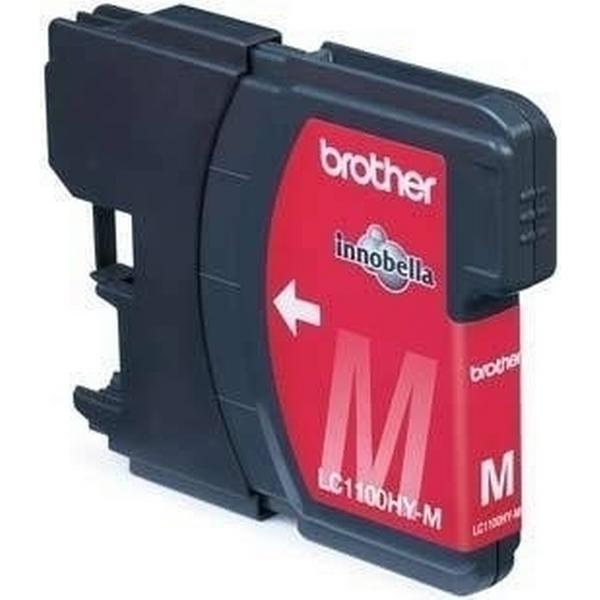 Brother (LC1100HYMBPDR) Original Bläckpatron Magenta 750 Sidor