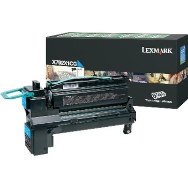 Lexmark (X792X1CG) Original Toner Cyan 20000 Sidor
