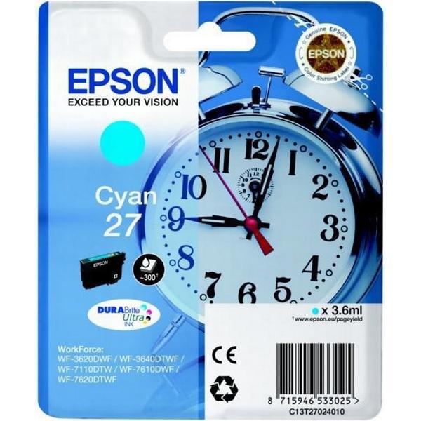 Epson (C13T27024010) Original Bläckpatron Cyan 3.6 ml