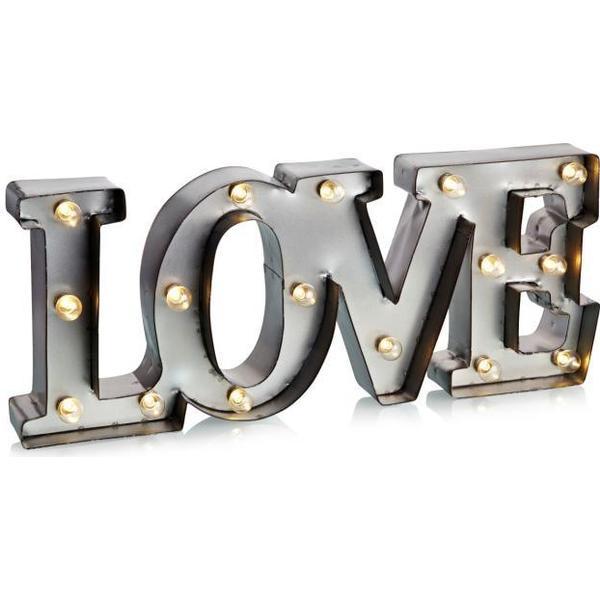 Markslöjd Word Love Jullampa