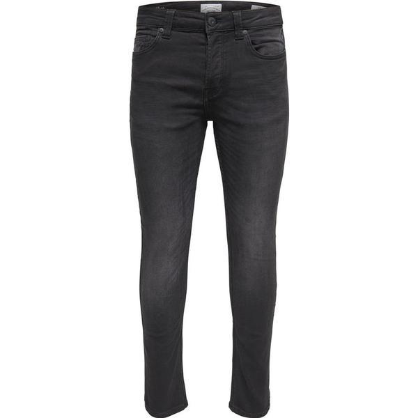 Only & Sons Loom Jog Slim Fit Jeans - Black/Black