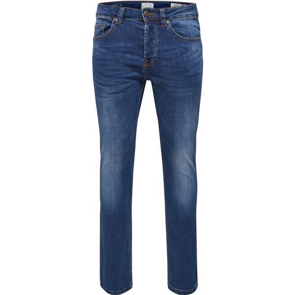 Only & Sons Weft Regular Fit Jeans Blue/Medium Blue Denim