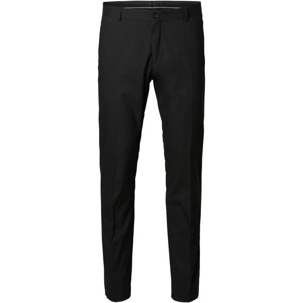 Selected Slim Fit Suit Trousers - Black/Black