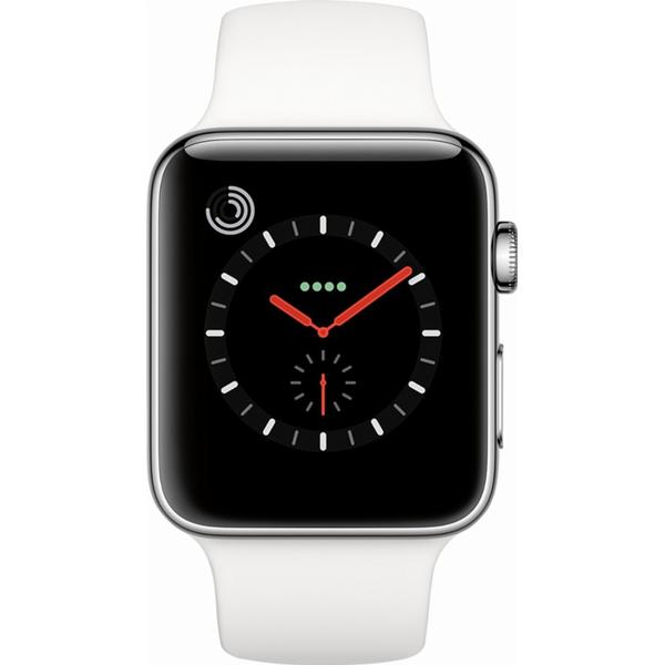 Apple Watch Series 3 Cellular 42mm Stainless Steel Case with Sport Band