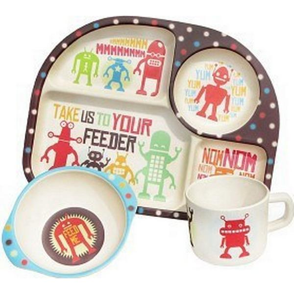 BimBamBoo Kids Dining Set Robots 3pcs