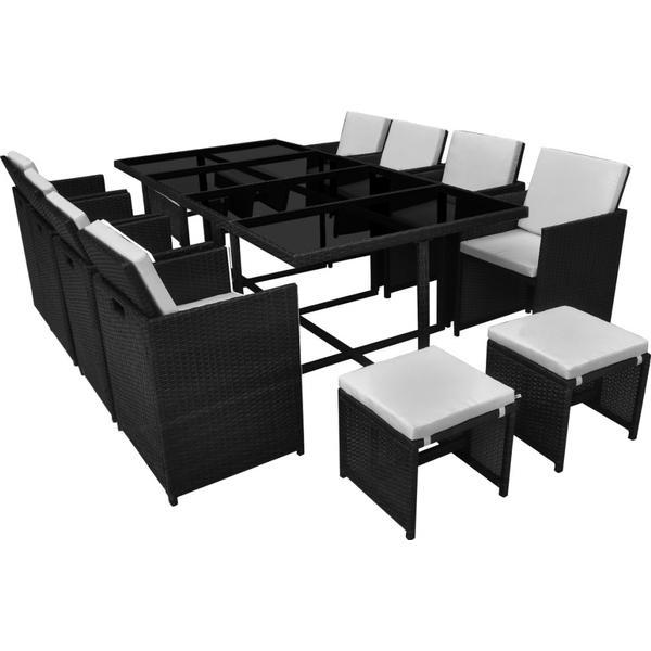 vidaXL 42524 Havemøbelsæt, 1 borde inkl. 8 stole