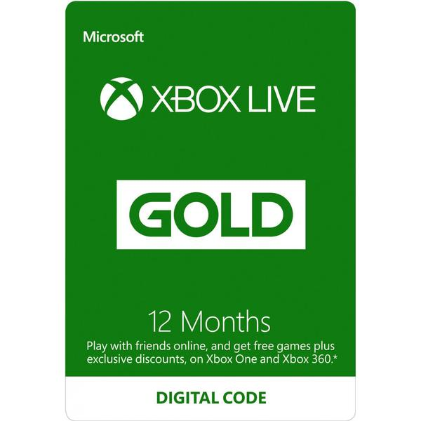 Microsoft Xbox Live Gold Membership - 12 months