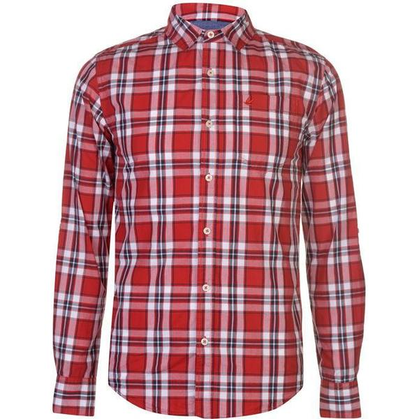 SoulCal Long Sleeve Check Shirt Red/White/Nay