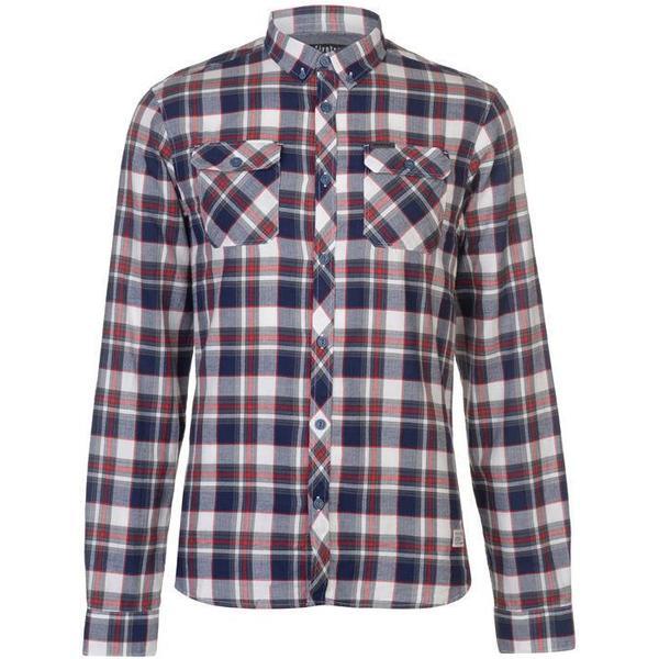 Firetrap Blackseal Herringbone Check Shirt Red/White
