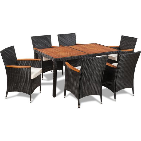vidaXL 42913 Havemøbelsæt, 1 borde inkl. 6 stole