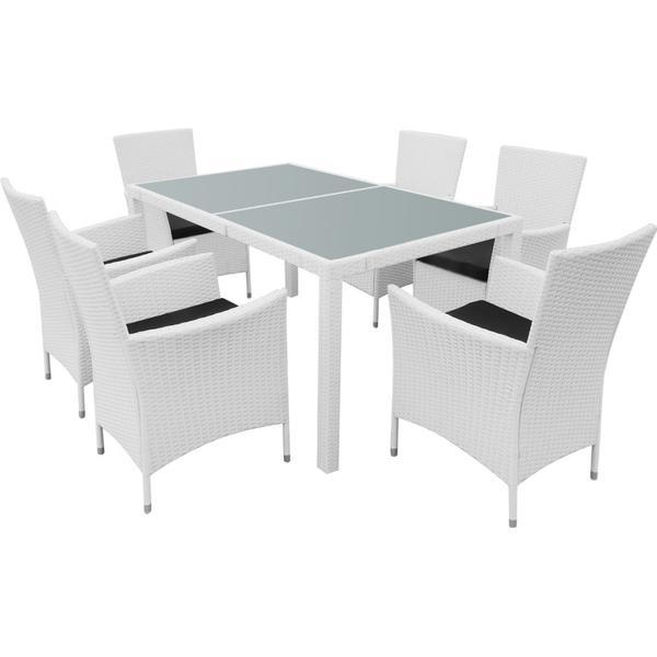 vidaXL 42501 Havemøbelsæt, 1 borde inkl. 6 stole
