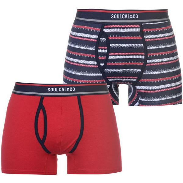 SoulCal Patterned Boxers 2-pack Red