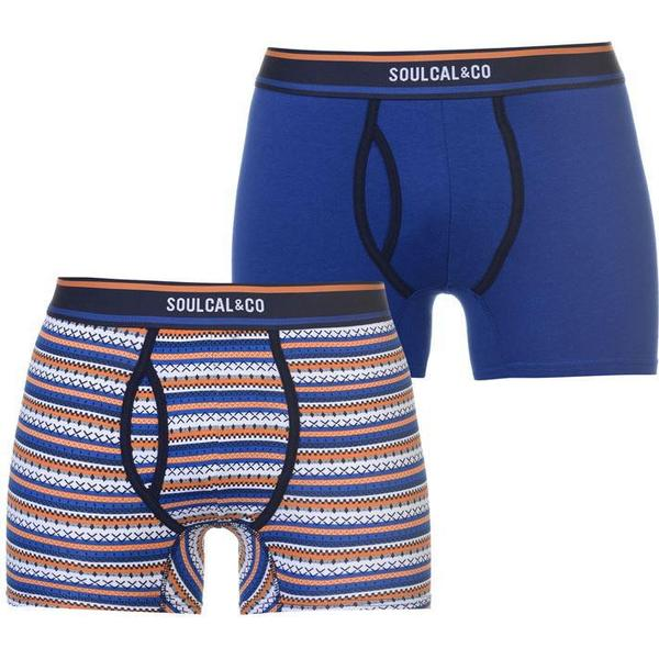 SoulCal Patterned Boxers 2-pack Blue