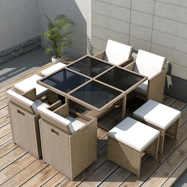 vidaXL 42556 Havemøbelsæt, 1 borde inkl. 4 stole