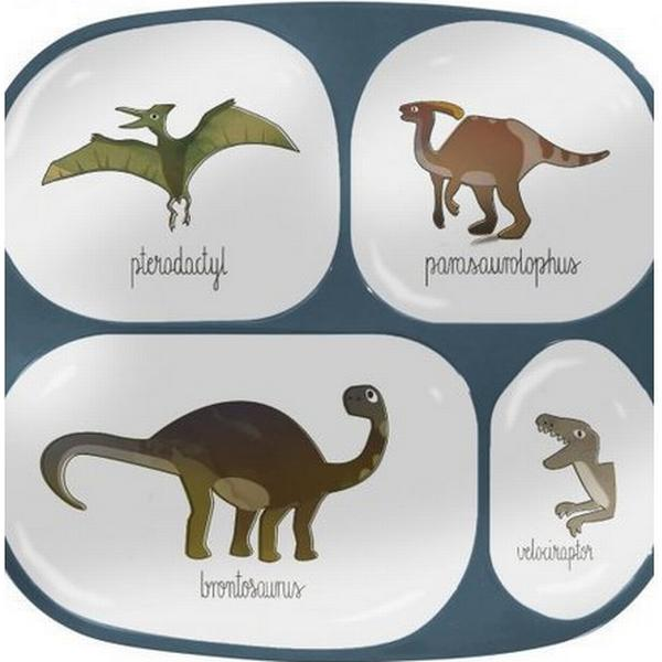 Sebra Melamin 4-delt Tallerken Dino
