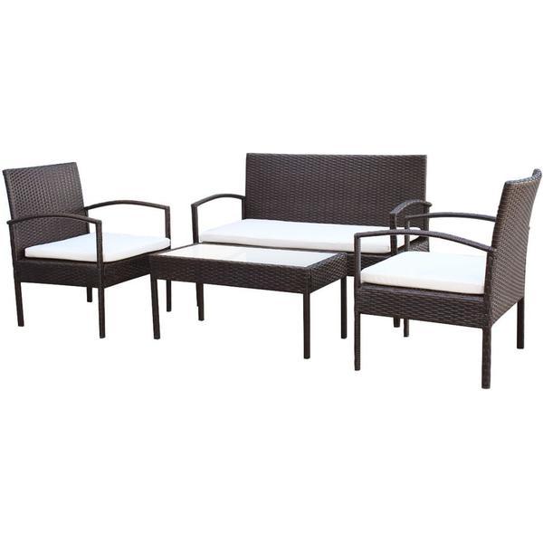 vidaXL 42672 Loungesæt, 1 borde inkl. 2 stole & 1 sofaer