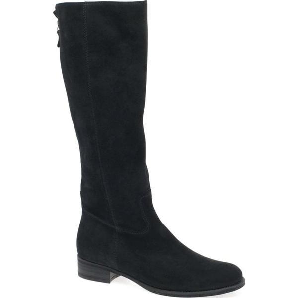 Gabor Colour: Palmer Womens Long Boots Colour: Gabor Black Nubuck, Size: 3 7c1a04