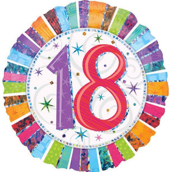 Amscan Standard Radiant Birthday 18 (1606701)
